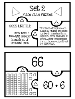 Place Value Puzzles (Base Ten, Expanded Form, Standard For