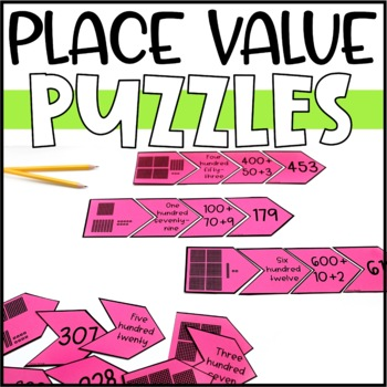 Place Value Puzzles Game and Math Center