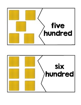 Place Value Puzzles ~ Numbers 100 - 1,000