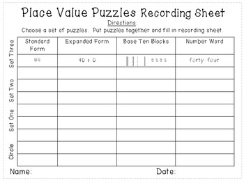 Place Value Puzzles: Tens and Ones