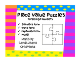 Place Value Puzzles- Three-Digit Numbers-Standard, Expande