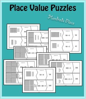 Place Value Puzzles - Through Hundreds Place