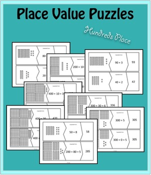 Place Value Puzzles - Through Hundreds Place