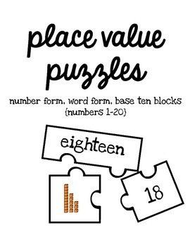 Place Value Puzzles {numbers 1-20}