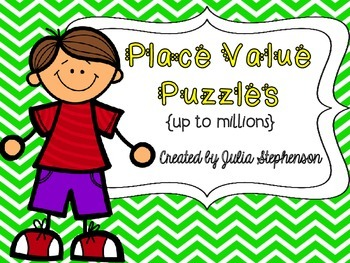 Place Value Puzzles {to millions}