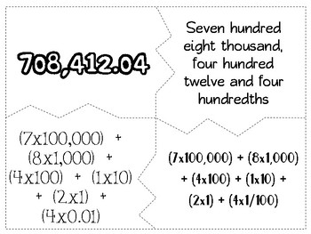 Place Value Puzzles - to thousandths