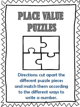 Place Value Puzzles-Hundreds