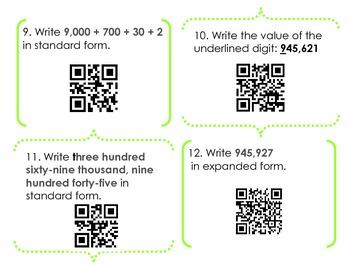 Place Value QR Code Activity