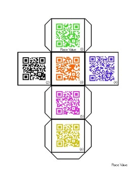 Math QR Code Dice Pack- Great for Math Centers!!
