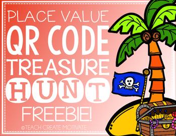 Place Value QR Code Hunt FREEBIE