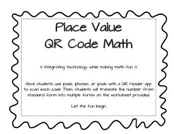 Place Value QR Code Math
