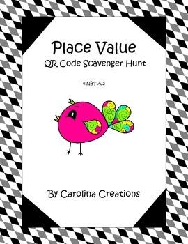 Place Value QR Code Scavenger Hunt - 4.NBT.2