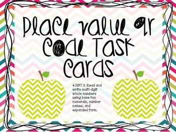 Place Value QR Code Task Cards 4.NBT.2