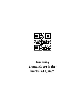 Place Value QR Codes Cards