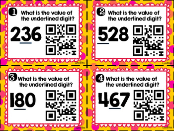 Place Value QR Codes-Hundreds and Thousands