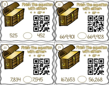 Place Value QR Task Cards