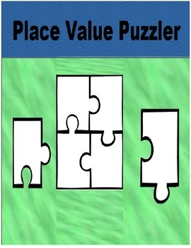 Place Value QR Task Cards and Place Value Cross Number Puzzle