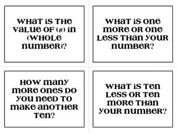 Place Value Question Cards - Common Core Aligned