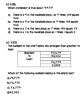 Place Value Quiz {3.2 Math TEK and STAAR Aligned}