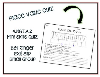 Place Value Quiz