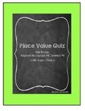 Place Value Quiz: 4th Grade