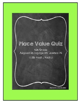 Place Value Quiz: 4th Grade