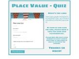 Place Value Quiz - Google Form