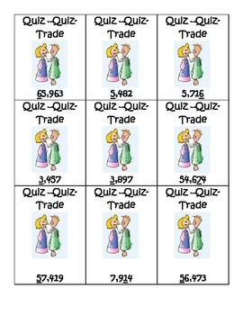 Place Value Quiz Quiz Trade