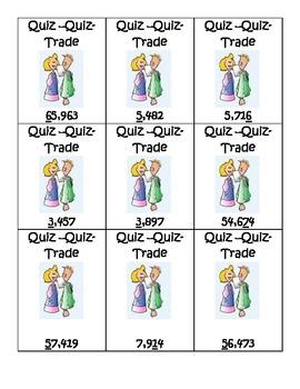 Place Value Quiz Quiz Trade
