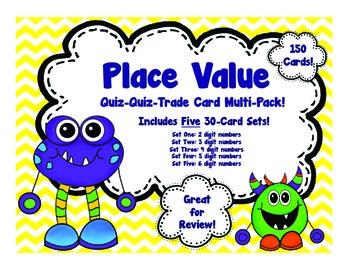 Place Value Quiz Quiz Trade Card Multi-Pack