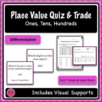 Place Value Game - Quiz and Trade - Ones, Tens, Hundreds
