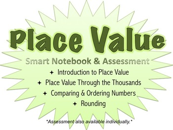 Place Value Quiz and Smart Notebook