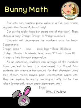 Place Value Rabbit Math: 1-, 2-, 3-, and 4-digit numbers