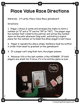 Place Value Free Math Game
