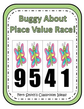 Spring Butterfly Place Value Math Center Games