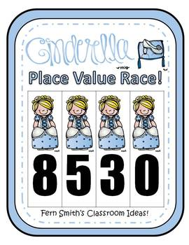 Cinderella Place Value Math Center Games