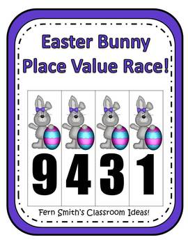 Easter Place Value Math Center Games