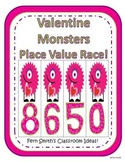 St Valentine's Day Place Value Math Center Games