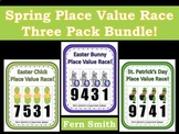 Spring Place Value Math Center Games Bundle