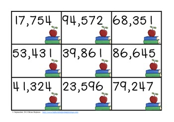 Place Value Race - Up to 6 Digits Owl School Themed
