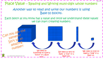 Place Value – Reading and Writing Multi-Digit Whole Numbers PowerPoint
