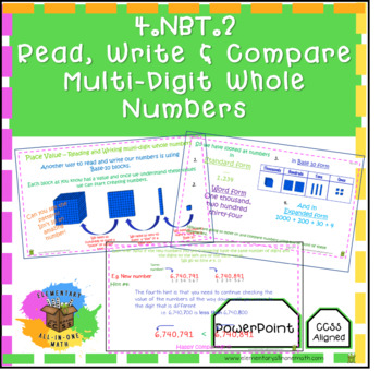 Place Value – Reading and Writing Multi-Digit Whole Numbers
