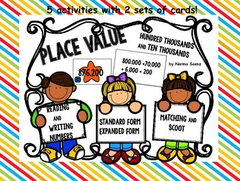 Place Value- Reading and Writing Numbers Activities