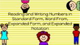 Place Value- Reading and Writing Whole Numbers to the Hundred Billions Place