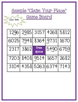 Place Value Game - Thousands, Hundreds, Tens and Ones