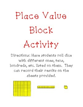 Place Value Recording Sheet