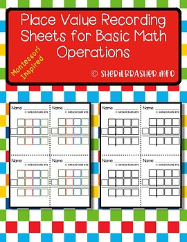 Place Value Recording Sheets | Montessori Inspired