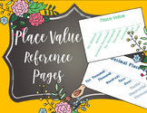 Place Value Reference Sheet - Interactive Notebooks