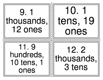 Place Value Regrouping Adding Task Cards (32 Cards)