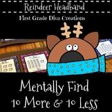 Christmas Math Activities-Place Value Reindeer Headband